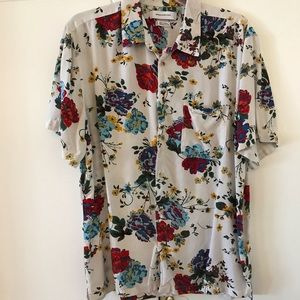 Men's Urban Outfitters Floral Camp Shirt